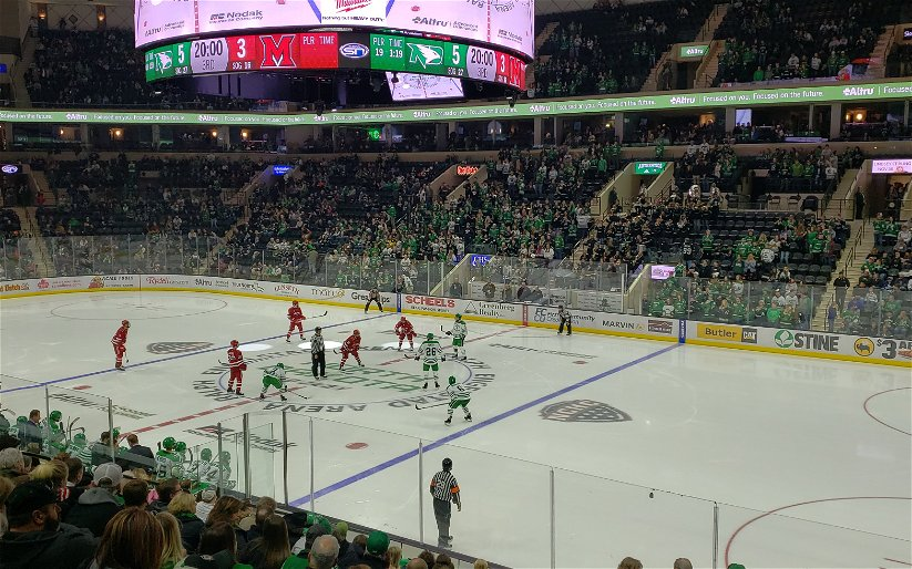 Image for Green With Envy: UND hockey has the best fanbase