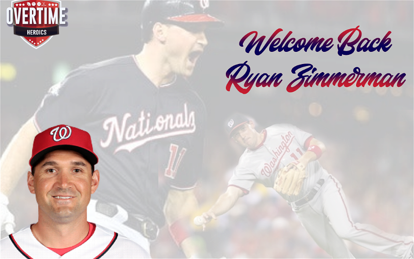 Image for Welcome Back Ryan Zimmerman
