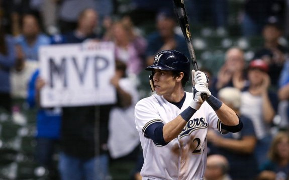 Image for Log Jam Forming in the Brewers' Outfield