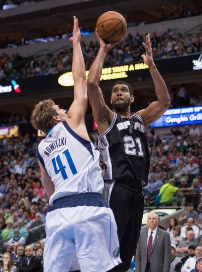 tim duncan dirk nowitzki nba san antonio spurs dallas mavericks1