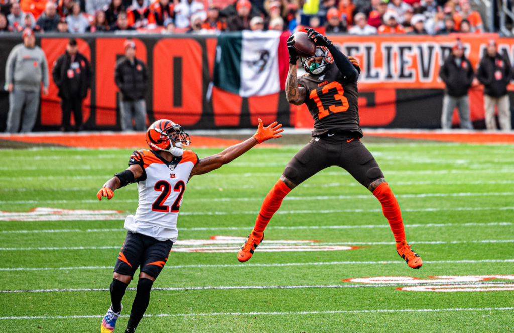OBJ playing for Cleveland Browns