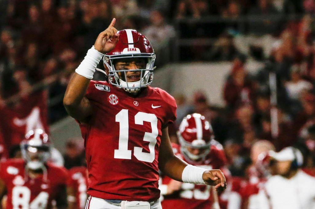 Tua, although injured a lot, is one of the top QBs going into the 2020 NFL Draft.