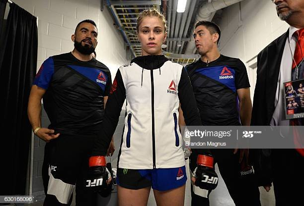 Paige VanZant walking to the octagon before a figbt.