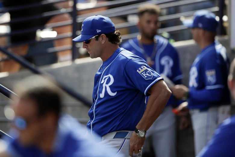 MIke Matheny coaching the Royals.