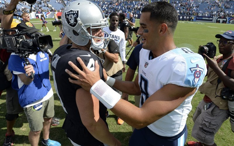Image for Week 1 of Raiders Players on your Fantasy Team: QB