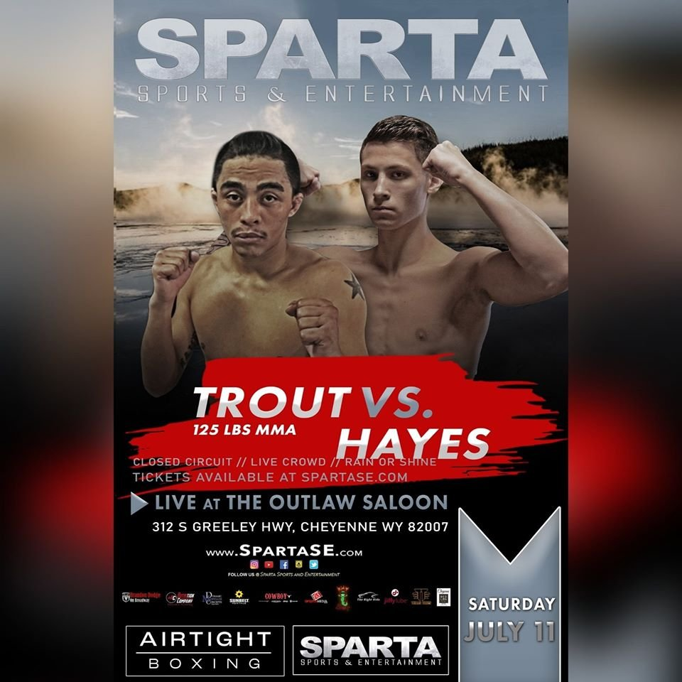 Trout vs Hayes fight poster courtesy of Sparta Sports & Entertainment.