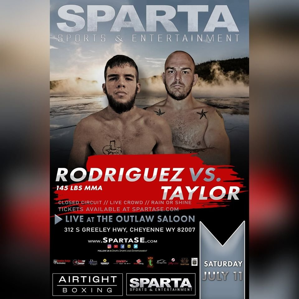 Rodriguez vs Taylor fight poster.