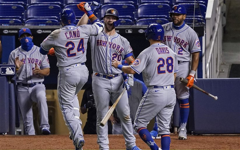 Image for Mets' Bats Come Alive in Rout of Marlins