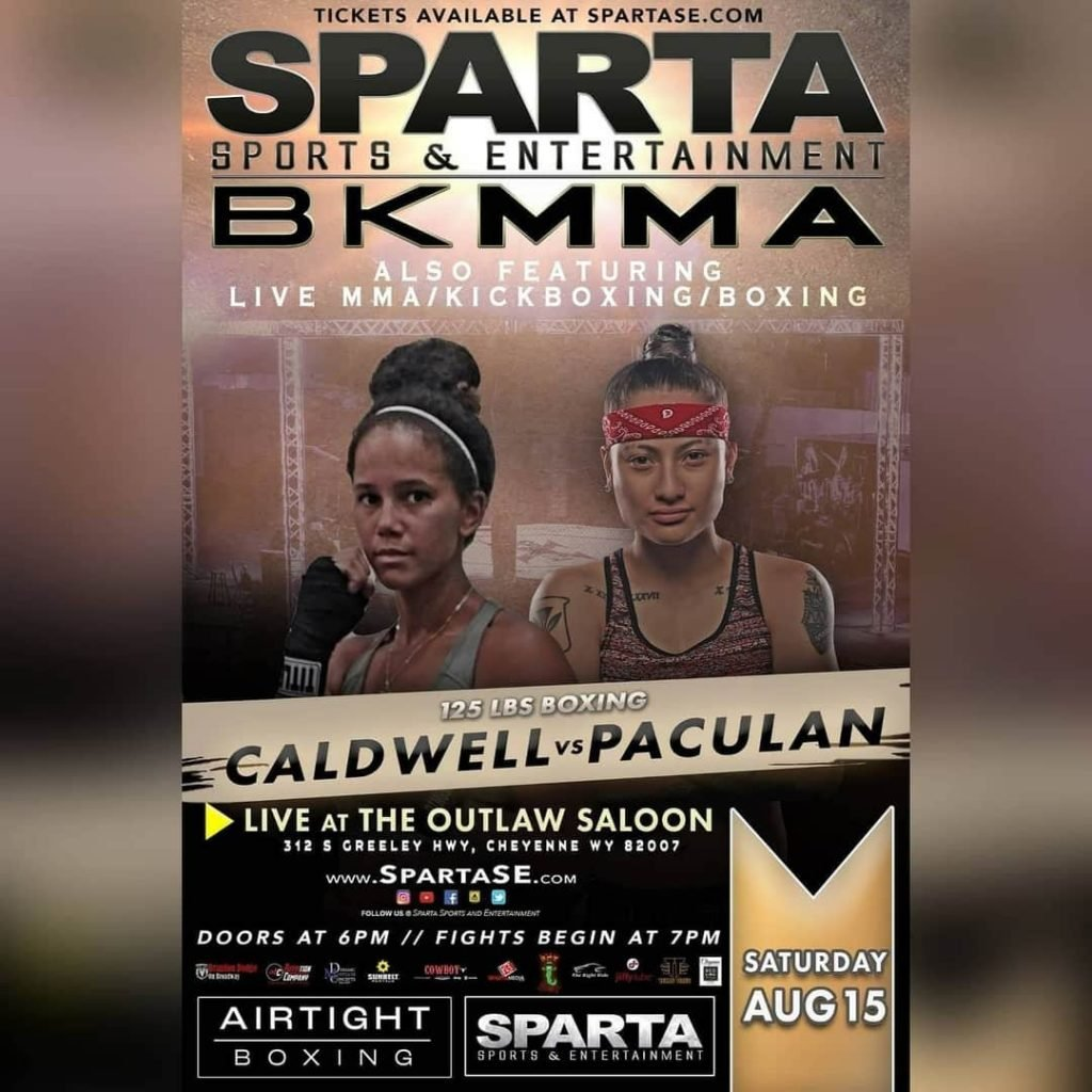 Tamika Caldwell vs Maliah Paculan fight poster. Courtesy of Sparta Sports and Entertainment.
