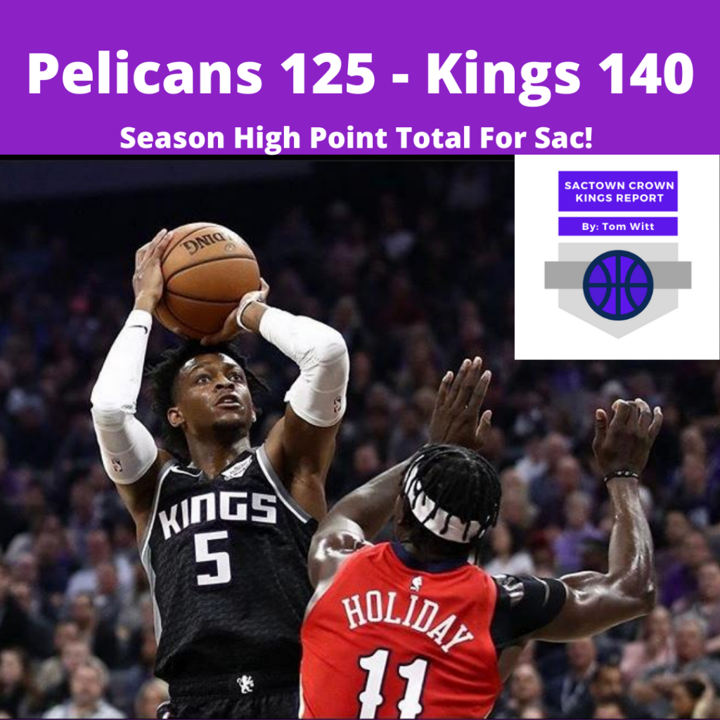 Kings v Pelicans score 3