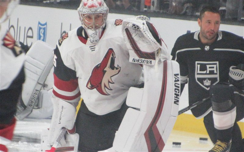 Image for Blocked Shots, Kuemper Carry Coyotes to Game Three Win