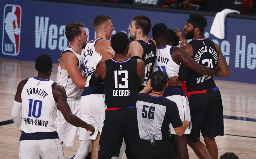 Image for Clippers Take 1-0 Series Lead  After Porzingis Ejection