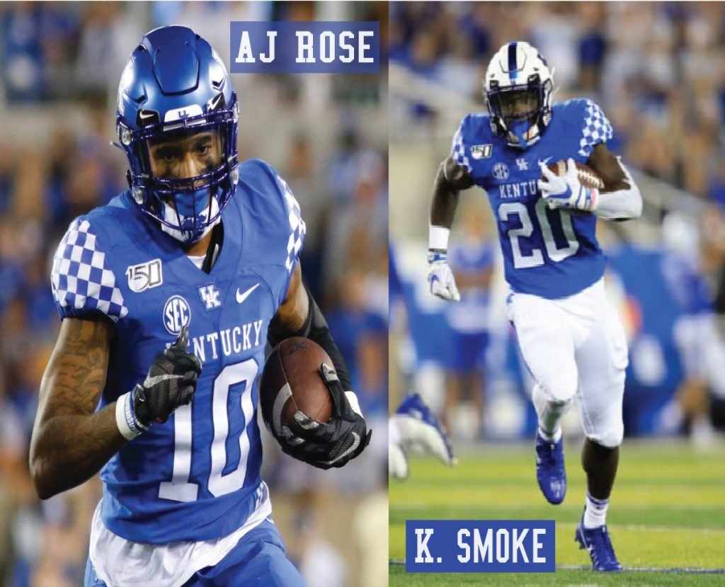Kentucky Football RBs AJ Rose and Kavosiey Smoke