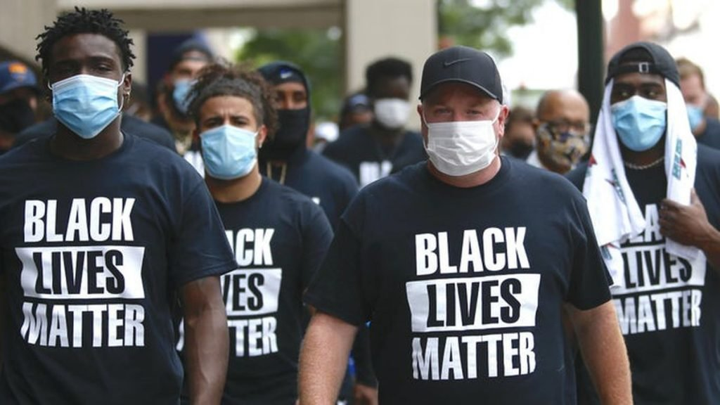 Kentucky Football march for Black Lives Matter