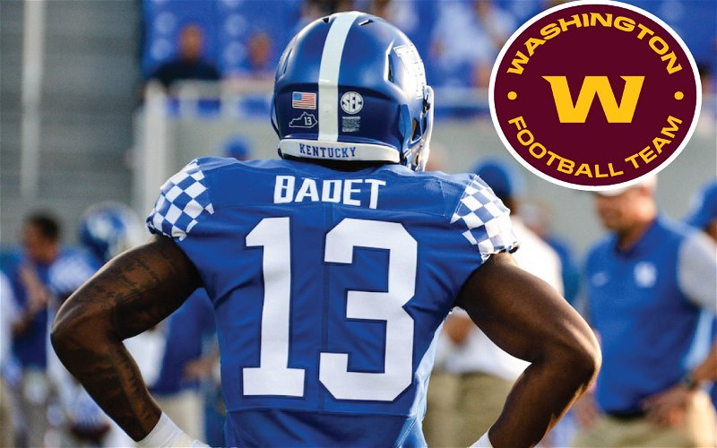 Image for Former Kentucky WR Jeff Badet Gets Signed to Washington's Practice Squad