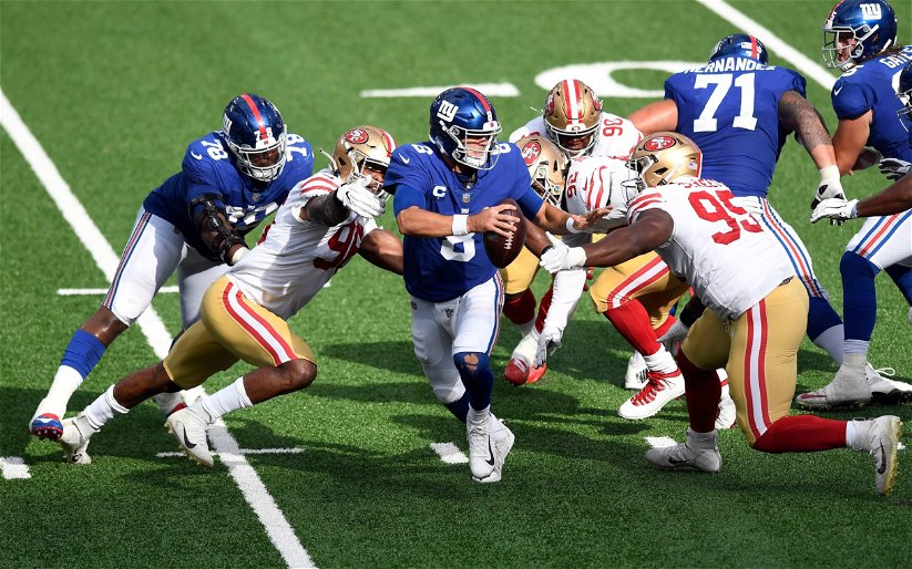 Image for Giants Fall to 0-3 as They're Clobbered by 49ers 36-9
