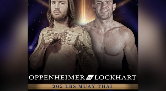 Joshua Oppenheimer vs Chris Lockhart fight poster.
