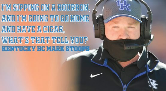 UK Head Coach Mark Stoops