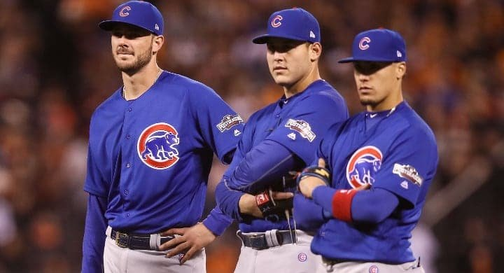 Kris Bryant Anthony Rizzo Javy Baez GettyImages 613846144