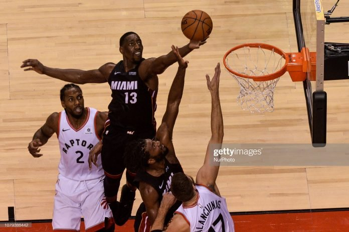 Miami Heat Season Preview Bam Adebayo soars for rebound