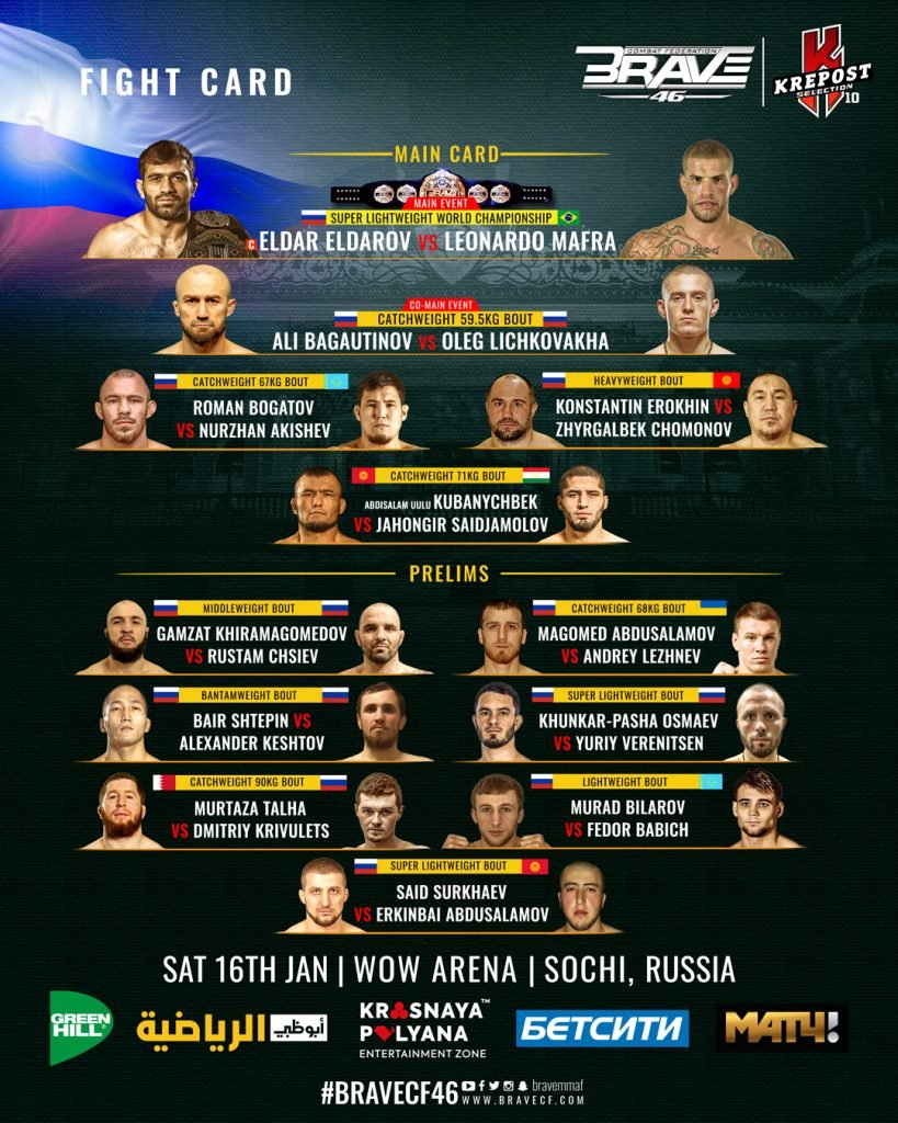 BCF46 Fight Card