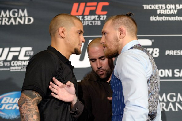 Conor Mcgregor vs Dustin Poirier face-off