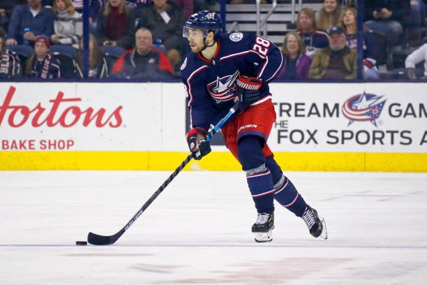 Blue Jackets Sign Bjorkstrand