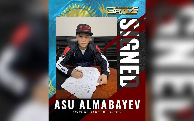 Image for Asu Almabaev Joins BRAVE CF Stacked Flyweight Division