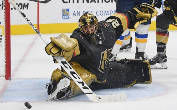 Image for Marc Andre Fleury Wins No. 100 With VGK