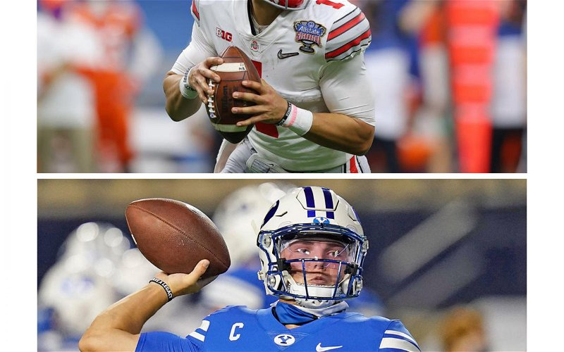 Image for Justin Fields and Zach Wilson: Complete Breakdown of the Battle for QB2 in the 2021 NFL Draft