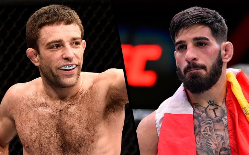 Image for Ilia Topuria vs Ryan Hall Booked for UFC 264 on July 10th
