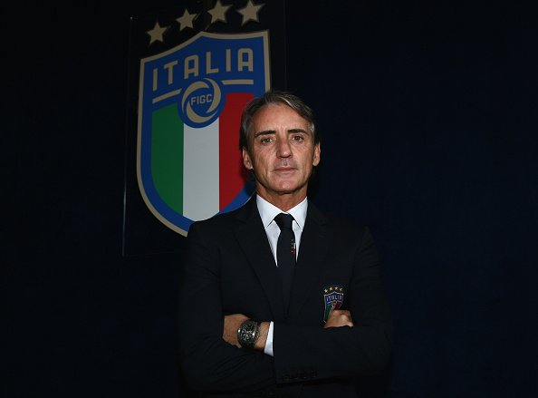 Roberto Mancini posing for photo in 2018. Northern Ireland are set to play Italy tonight.