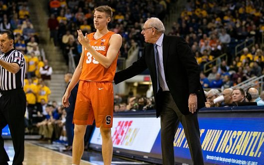 Image for Jim Boeheim Gets Full Father-Son Experience at Syracuse Coaching Two Sons