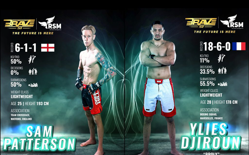 Image for Sam Patterson Confident Ahead Of BRAVE CF 51 Bout Against Ylies Djiroun