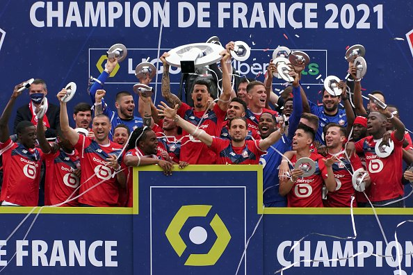 Jose Fonte celebrating winning Ligue 1 with Lille OSC. Him at Dias will be impenetrable at the back for Portugal.