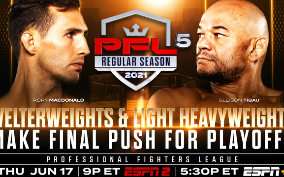 Image for Welterweight and Light Heavyweight Showdowns at PFL 5