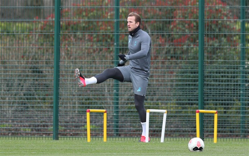 Image for Harry Kane Trains With Team-mates For The First Time This Season.