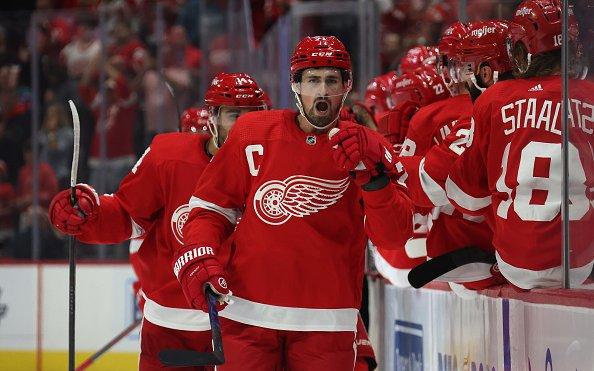 Image for Dylan Larkin Suspended One Game for Punching Mathieu Joseph